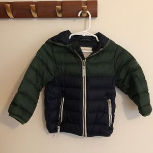 Hanna Andersson toddler down jacket size 80